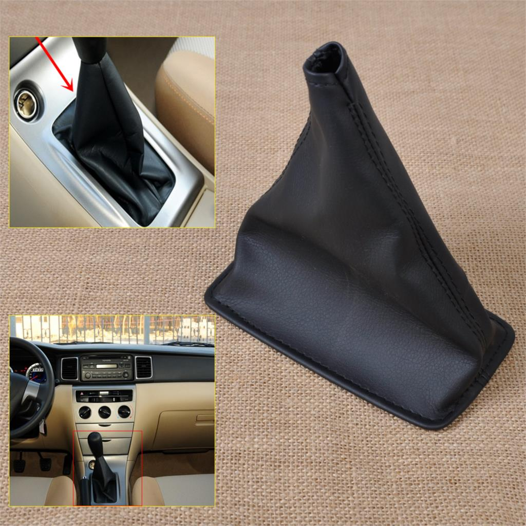 1pc New Black PU Leather Gear Stick Shift Cover Boot Gaiter for Toyota Corolla 2001-2005 <font><b>2006</b></font> <font><b>2007</b></font> <font><b>2008</b></font> <font><b>2009</b></font> <font><b>2010</b></font> <font><b>2011</b></font> <font><b>2012</b></font> <font><b>2013</b></font>