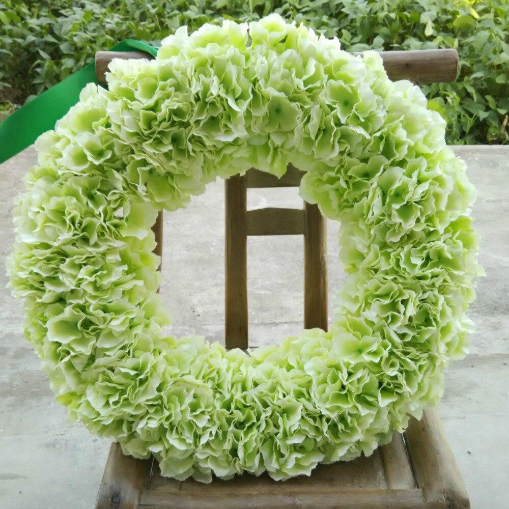 Licht grüne hortensien runde girlande front tür kranz 20 zoll ...