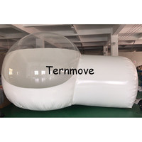 Inflatable Half Clear Bubble Camping Dome Lawn beach Tent 4m diameter room Inflatable Bubble House for Hotel
