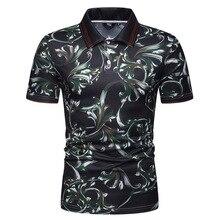 MarKyi fashion floral print mens polo shirts with short sleeve 2019 summer new shirt camisa masculina