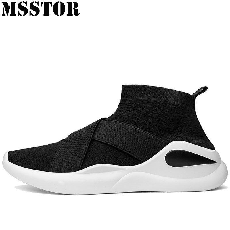 MSSTOR Spring Men Running Shoes Man Brand Summer Breathable Knitting Sports Run Men Sneakers Super Light Sport Shoes For Men