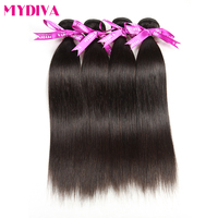 Mydiva Brazilian Remy Hair Bundle Straight 100 Human Hair Weave 8 28 Inch Natural Color Free