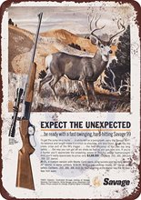 ZJY Vintage Home Decor Fastest Guns In The Woods! Metal Tin Signs Tavern Shabby Chic  Shop Retro Art Poster Plaque