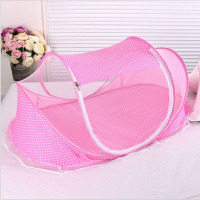 Baby Mosquito Net Summer Anti mosquito New Born Baby Bed Mosquito Net with Wavelets Point Foldable Net for Infant