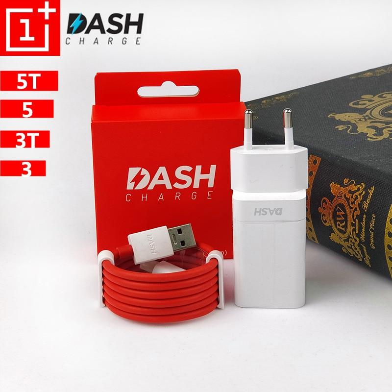 D'origine UE Oneplus 6 Dash Chargeur 5 t 5 3 t 3 Smartphone 5 v/4A puissance adaptateur Rapide charge Usb 3.1 Type C Câble de Données pour un plus