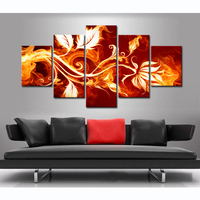 HD 2016 Newest Freeshipping Modern Abstract Painting Canvas Printed On Fabric Cloth For Room Decoration Cheap