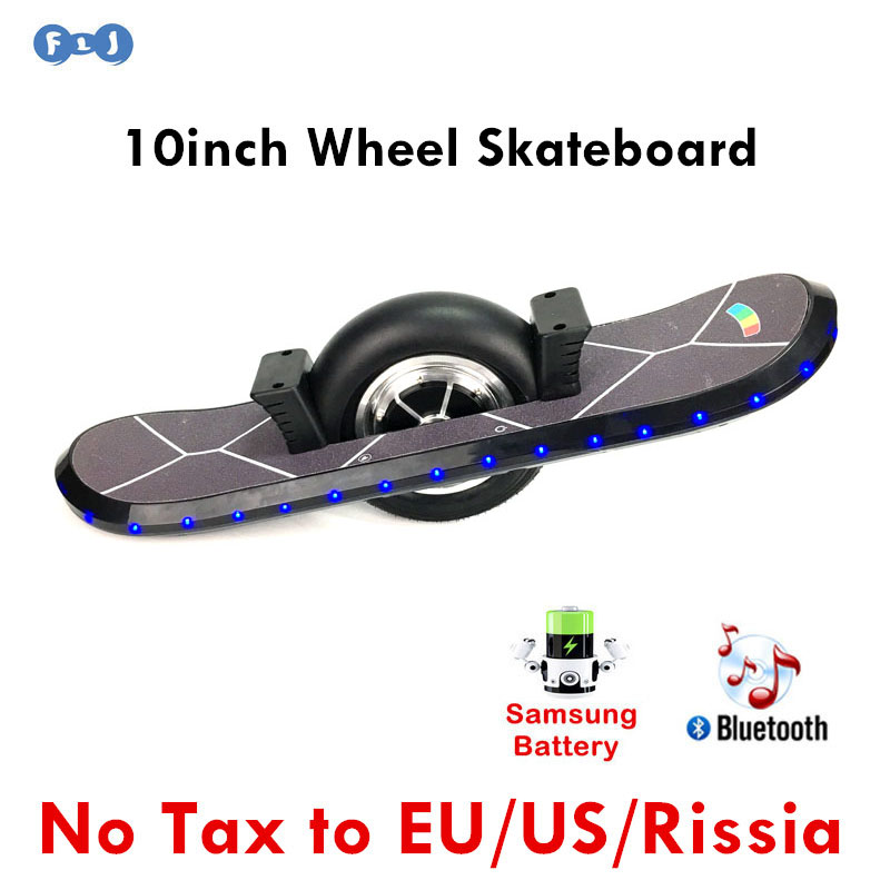 Flj 10inch Hoverboard Single Wheel Self Balancing Scooter One Electric Skateboard Bluetooth With Led Light