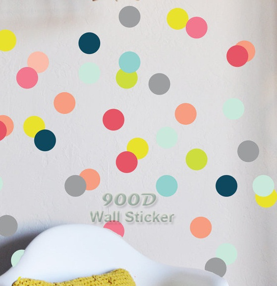 simple shape wall stickers dot dot wall decal trianle wall decal polka dot - Simple Shapes Wall Design