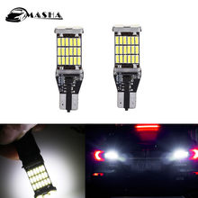 2x canbus 921 912 t10 t15 45 led 4014 smd lâmpada de backup reversa lâmpada para honda accord civic CR-Z piloto 2013 2014 2015(China)