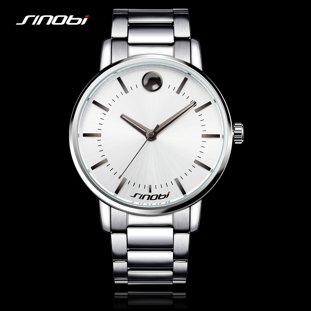 SINOBI Fashion Mens Watches for Top Luxury Brand Steel Watchband Males Causal Quartz Clock Montres Hommes Marque de Luxe 2016 orkina relojes 2016 new clock mens watches top brand luxury herren cool watche for men with gift box montres