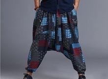 Neue Ankunft Sommer Flüssigkeit Großen Gabelung Hosen männlichen Reise Pluderhosen Bequeme Baumwolle Bettwäsche Bloomers Indische Baggy Pants MP08