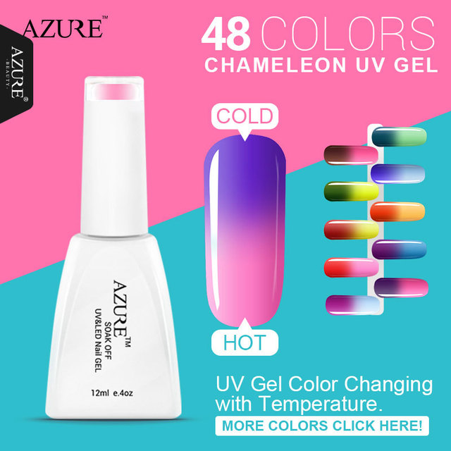 Aliexpress.com : Buy Azure Chameleon temperature change nail color ...