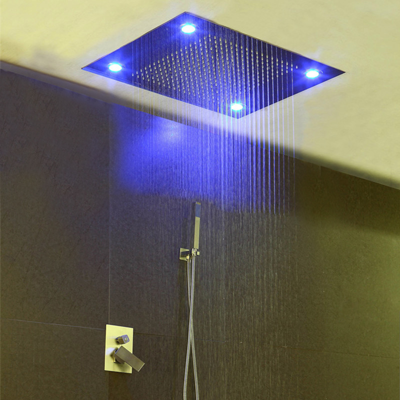 Modern Shower Faucets Set Hot Cold Faucet Tap Large Water Ceiling ...