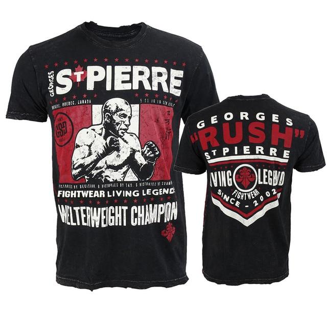 d88018de 2018 New Print GSP Living Legend Short Sleeve Mens T Shirt UFC MMA Fighting  Workout Muay Thai Sanda Mens tshirts Casual L~4XL -in T-Shirts from Men's  ...