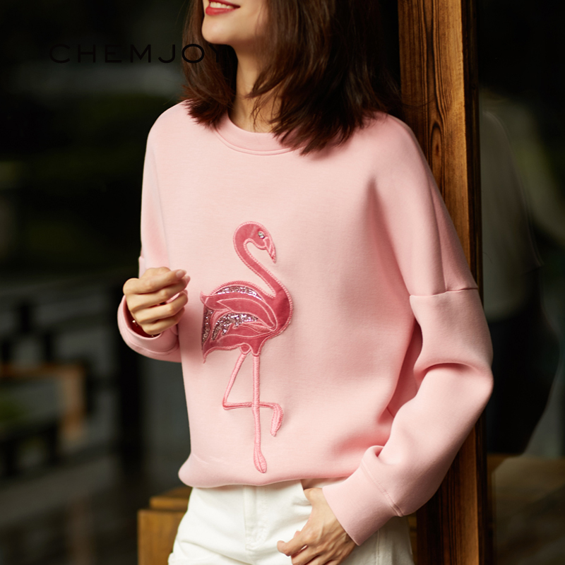 Large Flamingo Sequins Patches For Clothes Sewing On Embroidery Sequins Appliques Jacket Patches DIY Applications For Clothes