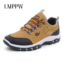 Men Shoes Outdoor Men Casual Shoes Male Sapatos Masculinos Non-slip Sneakers Fashion Soft Leather Men Hiking Shoes Top Quality цены онлайн