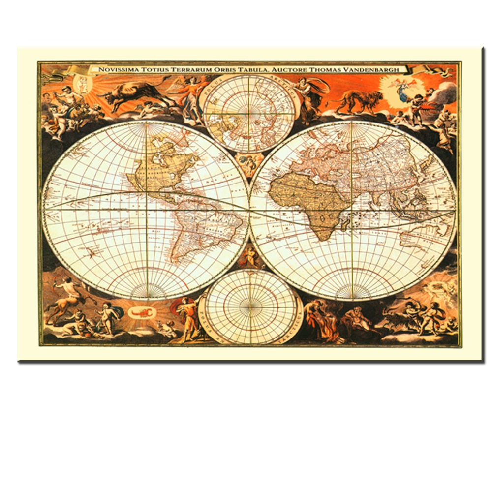 Aliexpress buy xll214 2017rushed classic world map english aliexpress buy xll214 2017rushed classic world map english for retro canvas print poster decorative painting core vintage greeting card from reliable gumiabroncs Choice Image