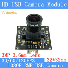 Surveillance camera 1920*1080p Full MJPEG 30/60/120fps High Speed OV2710 Mini CCTV Android Linux UVC Webcam USB Camera Module
