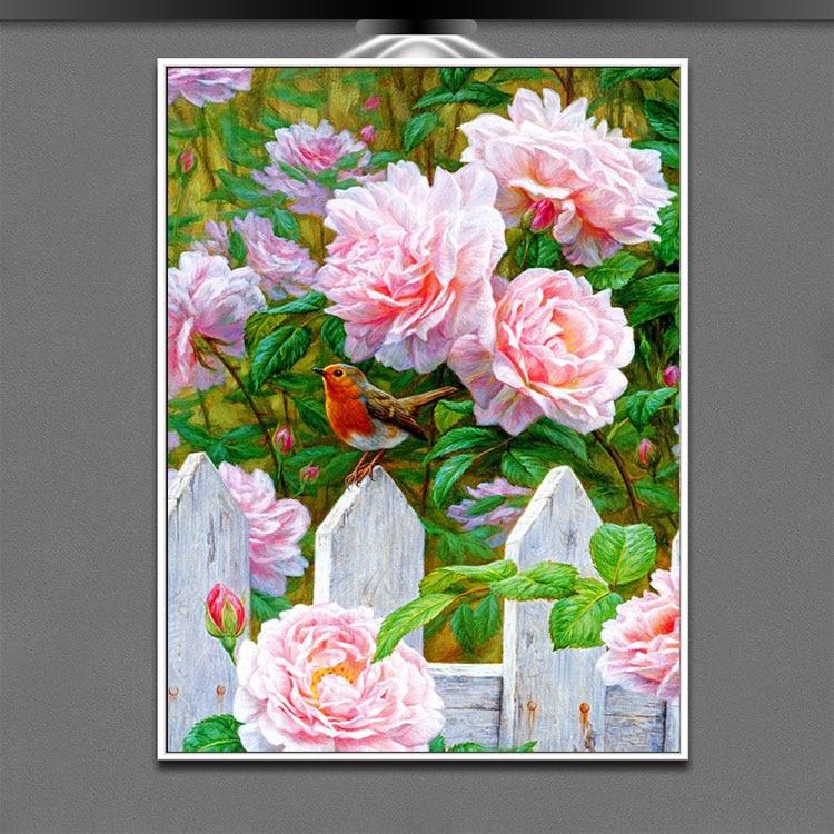100% čtvercový vrták Little Daisy Diy Diamond výšivka Obrázek z drahokamů Mozaika Řemesla Patchwork Hobby