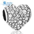 925 Sterling Silver Love Heart Charm Bracelet Corazón Encantos Stones Completas Para Los Amantes del Día de San Valentín Joyería Fina X238H20