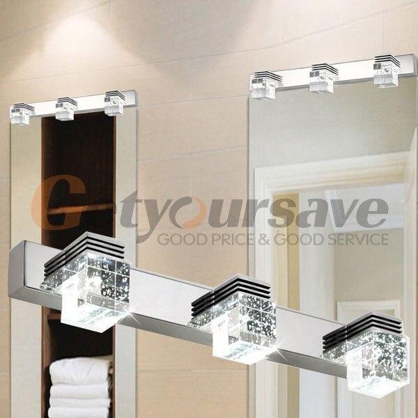 led moderno cuarto de bao espejo de cristal luces de pared lmparas