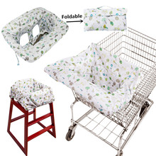 Foldable Baby Shopping Cart Baby Seat Cover with Safety Belt Protection Cover Trolley Soft Pad Infant Dining Chair Seat Cushion