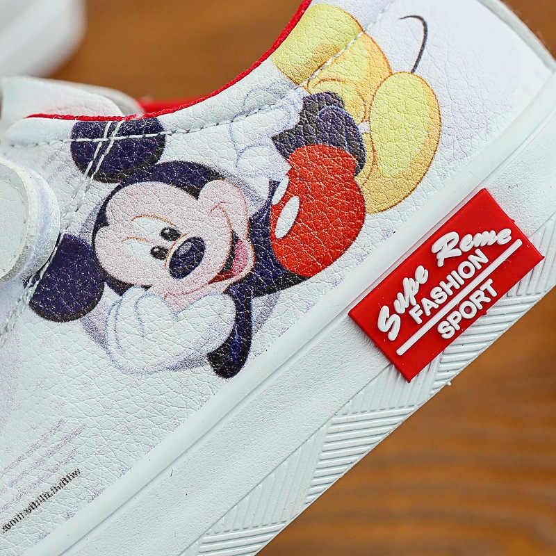 ディズニー子供の漫画ミニーミッキー保護ソフト底カジュアルスポーツシューズファッション少年少女学生スポーツの靴