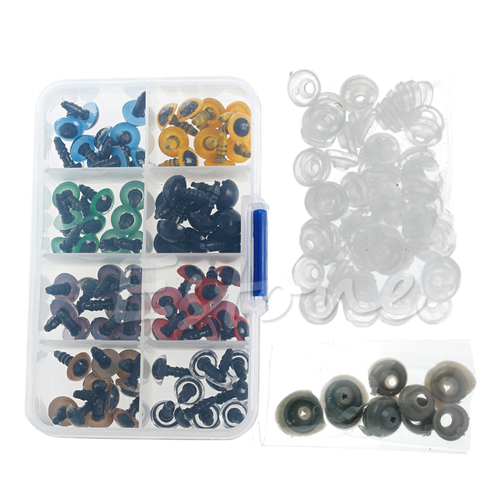 Safety Animal Eyes with Plastic Washers for Bear Doll Stuffed Puppet DIY Craft 24mm 10 Pieces Brown