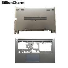 BillionCharmn новый для lenovo для Ideapad S400 S405 S410 S415 клавиатура с наклонным упором для рук крышка без сенсорной клавиатуры и нижней части корпуса серебро