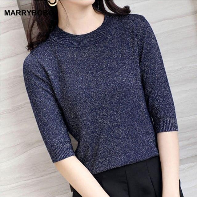 8248d3376d42 Aliexpress.com   Buy New Autumn Winter 2018 Women Korean Half Sleeve ...