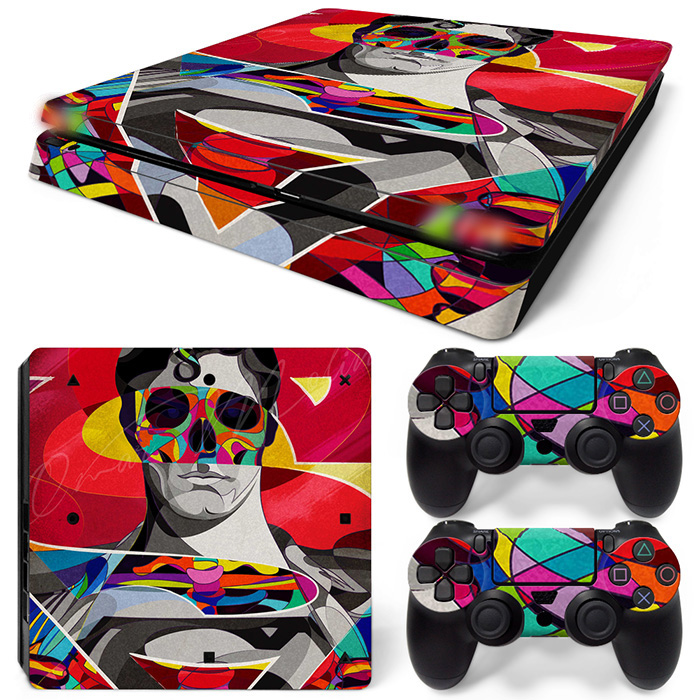 Gratis Drop Shipping för Ps4 Slim Skin Stickers -Skullmiddag man-TN-P4Slim-1540