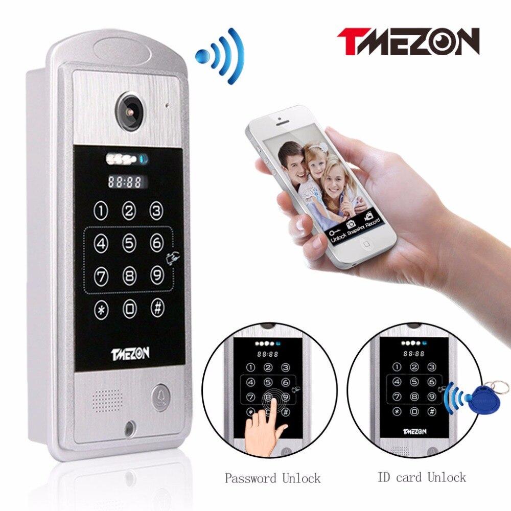 bilder für Tmezon Phone Control Drahtlose IP Wifi Video-türsprechanlage Intercom HD 720 P Outdoor Türklingel Kamera P2P Türsprechanlage Passwort RFID karte