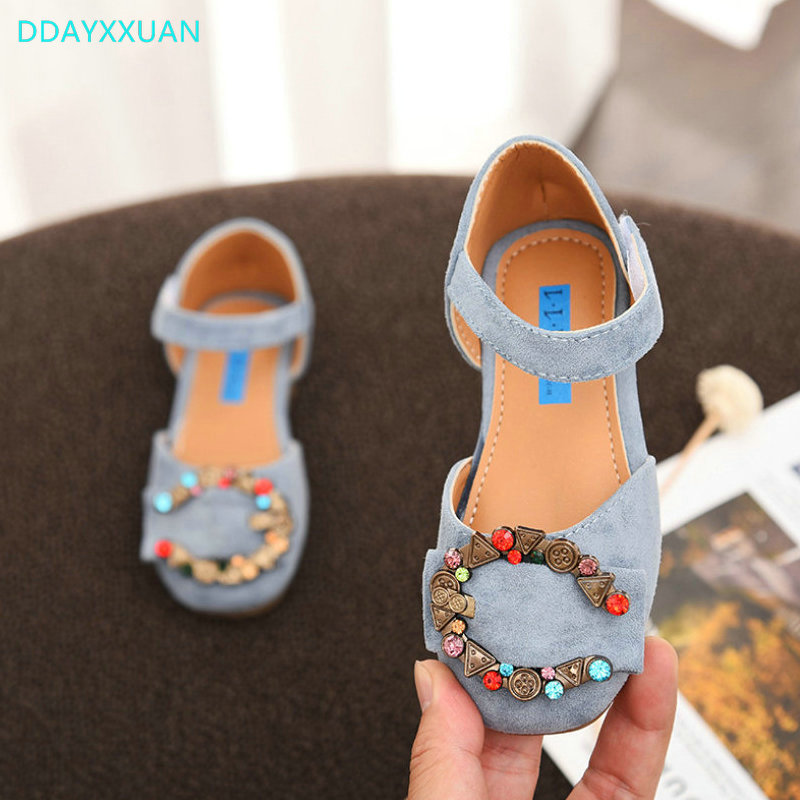 Kids Sandals Girls Princess Sandal 2018 New Brand Summer Fashion Rhinestone Girls Dancin ...