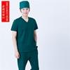 New Men Medical Scrub Sets Nurse Hospital Uniforms Dental Clinic Beauty Salon short Sleeve V neck 100% cotton hospital work wear