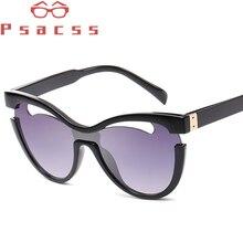 Psacss Vintage Cat Eye Sunglasses Women Brand Designer Hollow Sun Glasses Feamle Fashion Mirror Lunette De Soleil Femme UV400