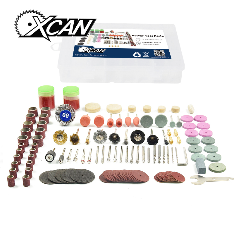 XCAN 136pcs/set Dremel Rotary Tool Accessories Kit Universal Fitment for Easy Cutting, Carving and Polishing kitavt75417unv10200 value kit advantus id badge holder chain avt75417 and universal small binder clips unv10200