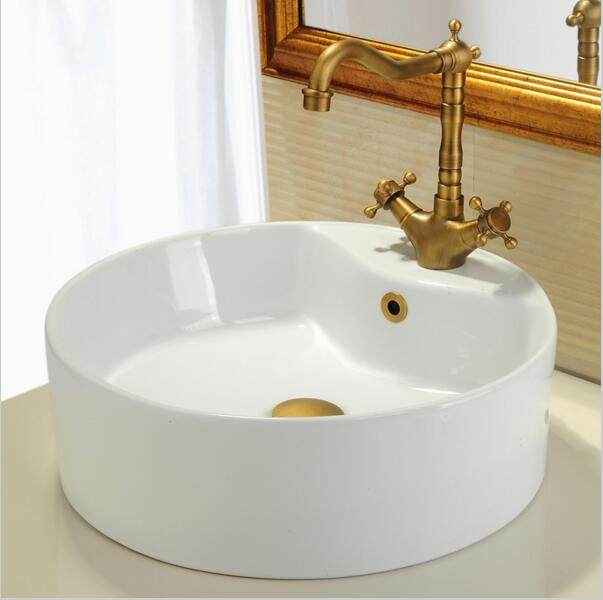 Free Shipping Bathroom Basin / Sink Overflow Cover/Brass Six Foot Ring  Bathroom Product Basin Tidy Insert Replacement JM9953