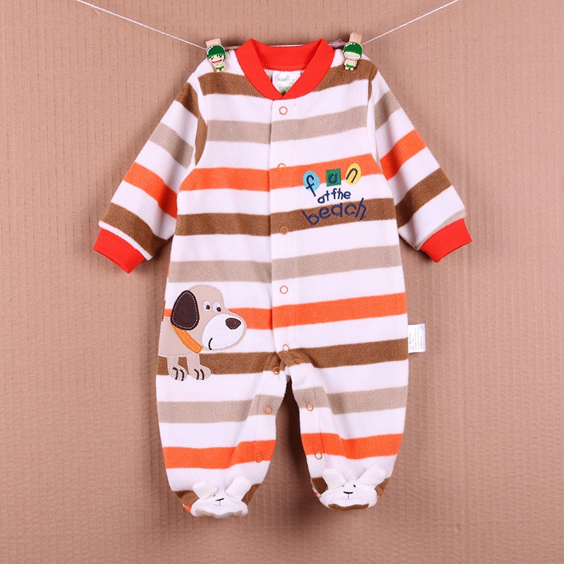 New Arrival Baby Footies Boys&Girls Jumpsuits Spring Autumn Clothes Warm Cotton Baby Footies Fleece Baby Clothing Free Shipping (8)