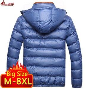 Image 3 - Vestes et manteaux dhiver pour homme, coupe vent à capuche en coton pour homme, 6XL, 7XL et 8XL, décontracté