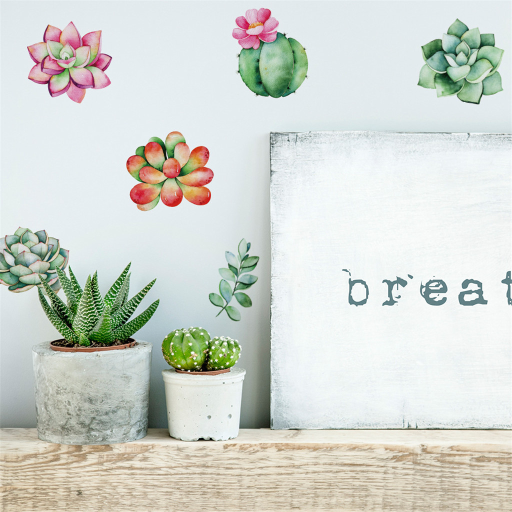 Image 4 - Mobile Creative Wall Stickers Cute Plant Affixed With Decorative Wall Window Decoration vinilos decorativos para paredes-in Wall Stickers from Home & Garden