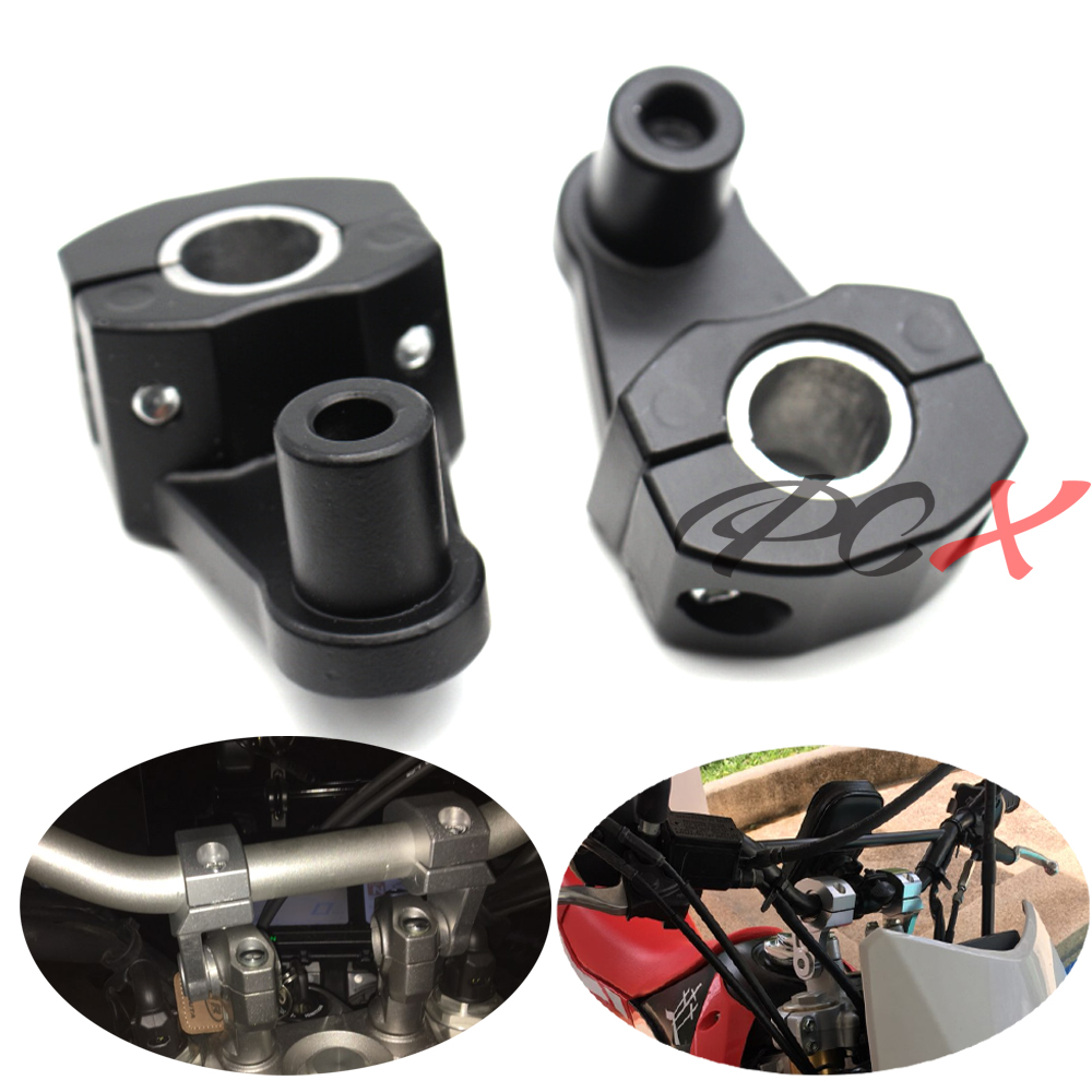Universal 2 Inch Pivoting Motorcycle Handlebar Riser For 22mm 28mm Bars Clamp for Kawasaki BMW Ducati honda KTM Yamaha Triumph in Covers Ornamental Mouldings from Automobiles Motorcycles