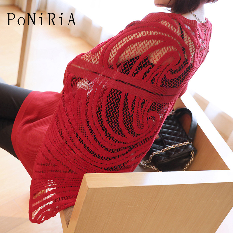 New Fashion Korea Spring Autumn women s knitted sweater loose knitting casual knitwear with hole patchwork