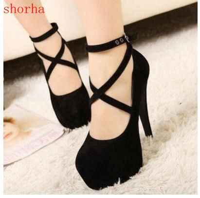 New fashion High Thin Heels Shoes Spring Autumn Pumps T-strap Buckle Strap Retro Round Toe Pumps Wedding Shoes Women