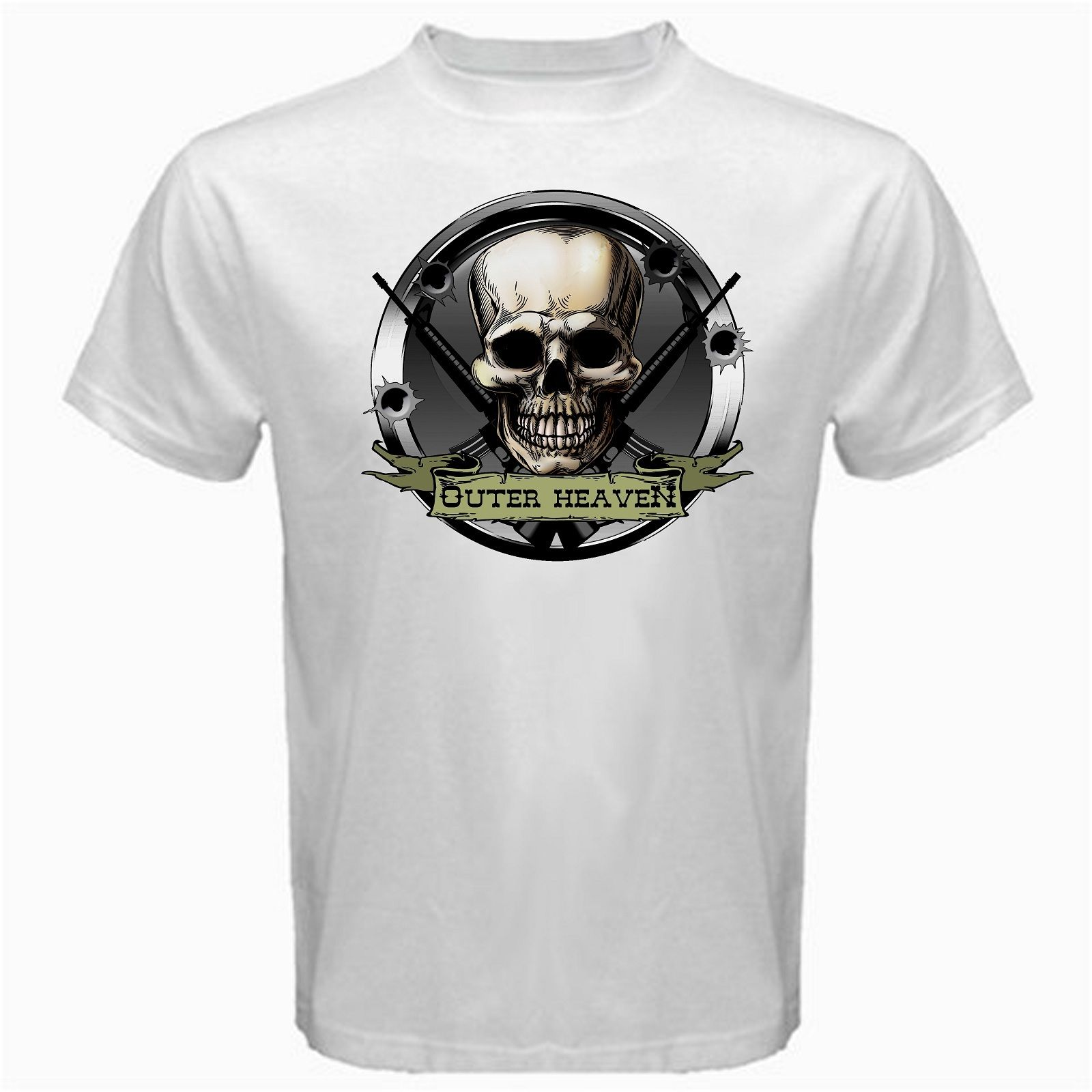 Outer Heaven Metal Gear online Game Tshirt White Basic Tee