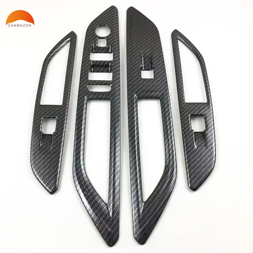 2019 New Style Carbon Fiber Styling Window Switch Lift Gear Panel Air Vent Tank Fog Lamp Water Cup Frame Cover Trim For Peugeot 3008 Gt 3008gt Exterior Parts