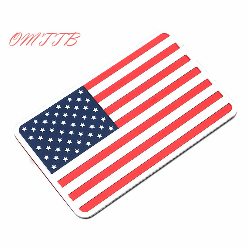 1pc United States American Flag Car stickers For Cadillac Buick Chevrolet Lincoln Chrysler Jeep Auto Badge Decal car-styling 9012 hir2 led headlight bulbs 50w 8000lm fanless auto headlamp conversion kit for toyota chevrolet cadillac buick gmc ford jeep