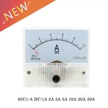 85C1-A DC Аналоговый амперметр измерительный прибор с панелью 1A 2A 3A 5A 10A 20A 30A амперметр тока механические амперметры с шунтом