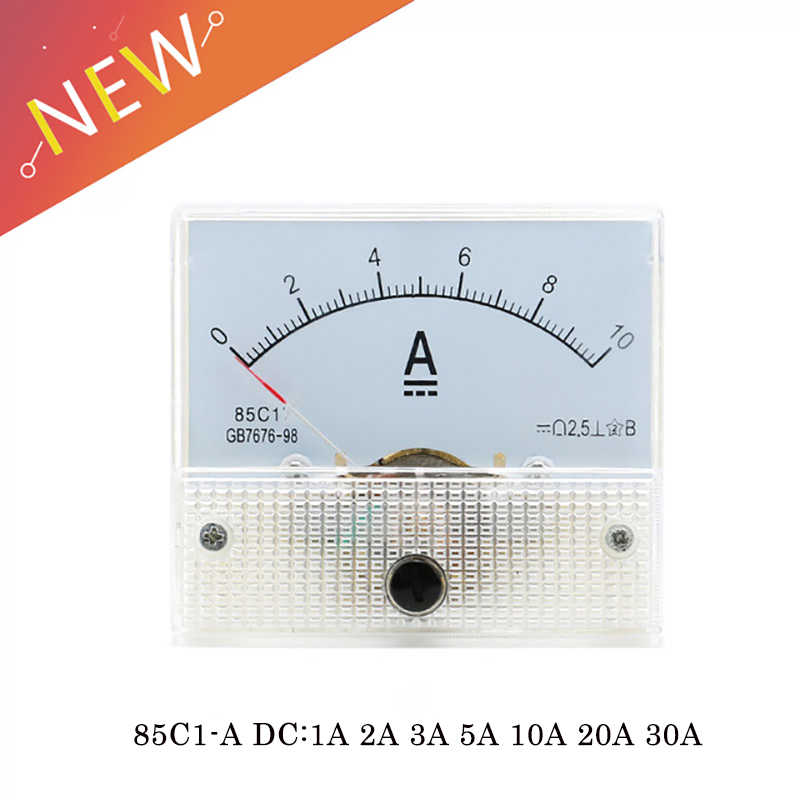 85C1-A DC Analog Amperemeter Panel Meter Gauge 1A 2A 3A 5A 10A 20A 30A AMP Gauge Current Mechanical Ammeters