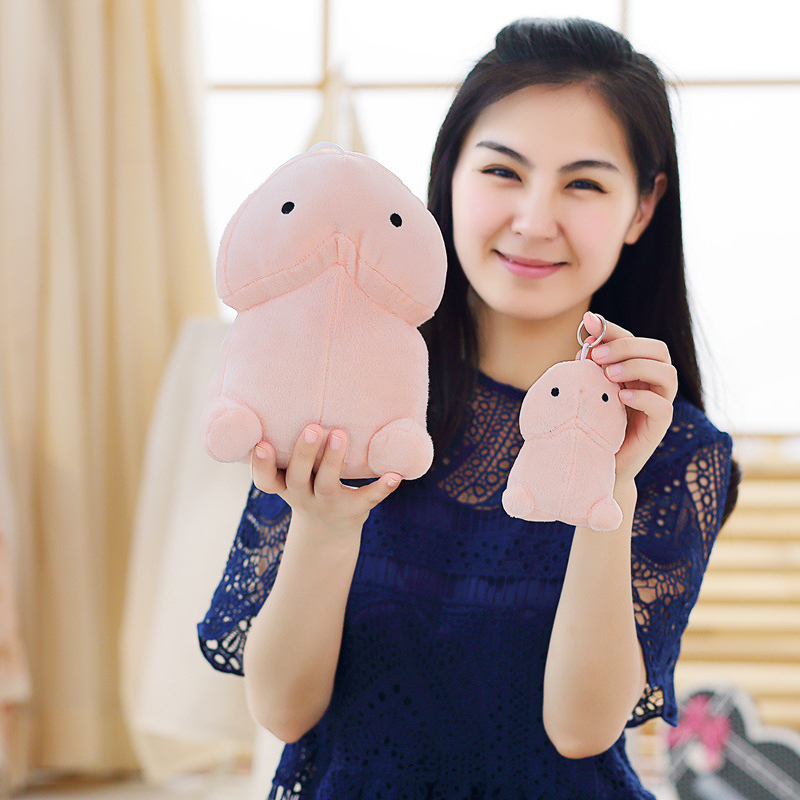 New 10cm-20cm Creative Stuffed Plush Penis Toy Simulation Penis Pillow Dolls Sex Toys For Girlfriend Very Funny Stuffed Plush