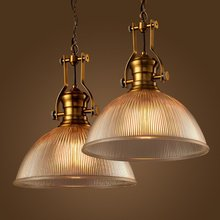 цена на Industrial Lamparas luminaire suspendu lamp lights Loft Copper Glass Pendant Lights Edison light